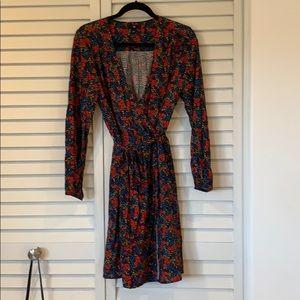 Gap Floral long sleeved Wrap Dress